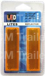Amber Reflectors - Twin Pack